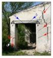 flessione architrave e cedimento fondazione pilastro